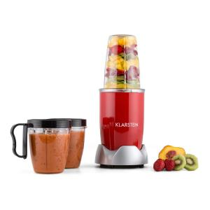Klarstein NutriRocket, 700W, červený, multifunkčný mixér/smoothiemaker, desaťdielny