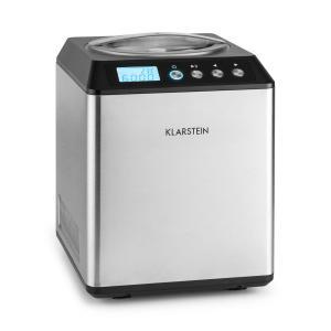 Klarstein Vanilla Sky, 180W, strieborná, zmrzlinovač s kompresorom, nehrdzavejúca oceľ, 2l