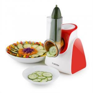 Klarstein Carrot & Rock, 150W, červený, elektrický krájač zeleniny, 5 nadstavcov