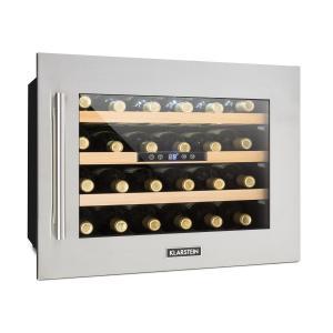 Klarstein Vinsider 24D, vstavaná chladnička na víno, 2 chladiace zóny, 24 fliaš, ušľachtilá oceľ