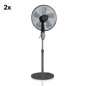 Summerjam, 2 x stojanový ventilátor, set dvoch ventilátorov, 50 W, 3 stupne, sivá farba
