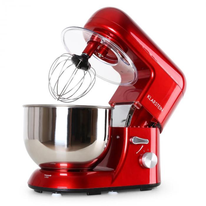 Bella Rossa, červený, kuchynský robot, 1200 W, 1,6 PS, 5 litrov